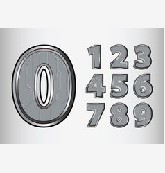 numbers object scifi tech style vector image vector image