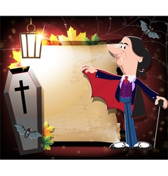 Old vampire coffin and bats vector
