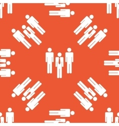 Orange work group pattern vector