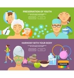 Rejuvenation banner set vector