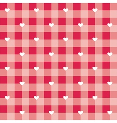 Seamless sweet red valentines background with love vector image