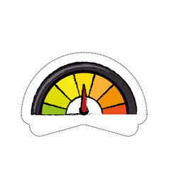 Speedmeter icon image vector