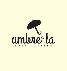 umbrella logo vector image