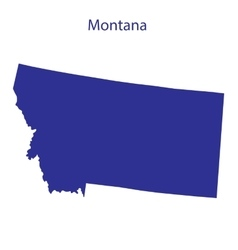 United States Montana vector image vector image