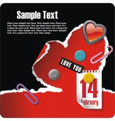 valentines stationery postcard vector image vector image
