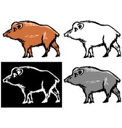 Wild boar vector image