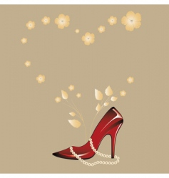 woman's shoe vector image vector image