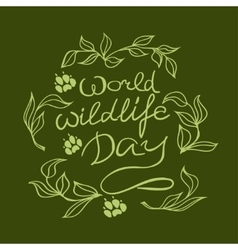 World wildlife day with background vector