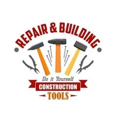 Repair building construction tools sign vector