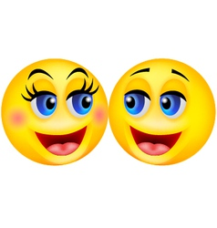 Happy smiley couple cartoon vector image