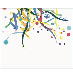 Confetti isolated on a white background vector image
