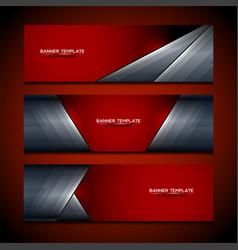 Banner red background design vector