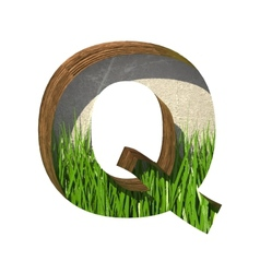 Grass cutted figure q paste to any background vector