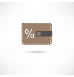 purse and percent vector image