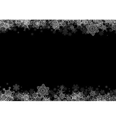 Frame with drawn snowflakes layered vector