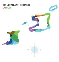 Abstract color map of trinidad and tobago vector