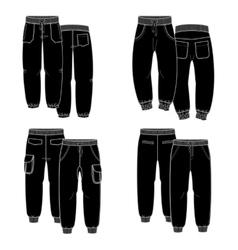 Black trousers vector