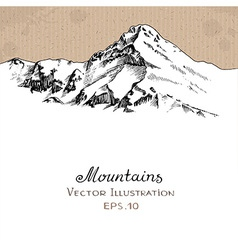 Snow peak vector