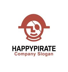 Happy pirate design vector