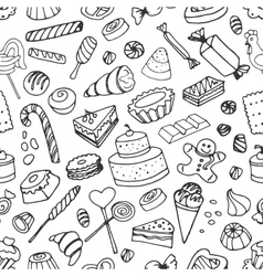 Doodle pattern sweets vector
