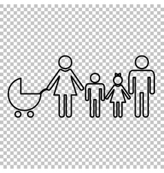 Family sign line icon vector