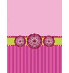 rosette banner background vector image
