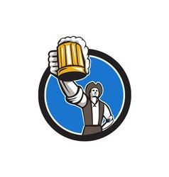 American Patriot Craft Beer Mug Toasting Circle vector image vector image