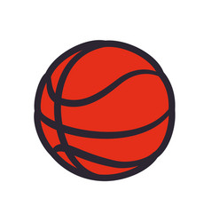 Basketball ball sport game vector