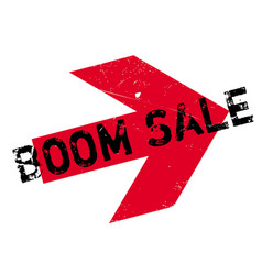 Boom sale rubber stamp vector