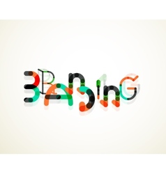 Branding font word concept vector image