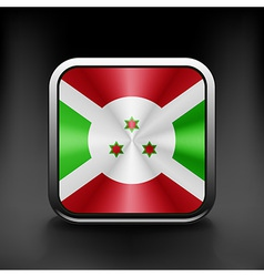 Burundi icon flag national travel icon country vector image vector image