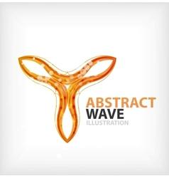 Business orange wavy business symbol vector