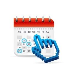 Calendar business concept vector