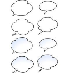 Cartoon of a set speak bubble vector