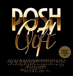 Chic label posh gift vector