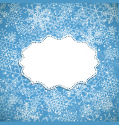 christmas background white frame vector image