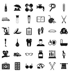 Disabled health icons set simple style vector