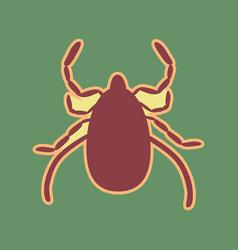 Dust mite sign cordovan icon vector