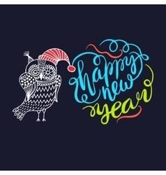 happy New Year Owl vector image