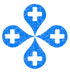 Hospital map markers grunge icon vector