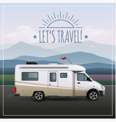 let s travel poster vector image vector image