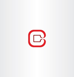Logo letter c logotype c red icon vector
