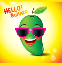 mango faceemojisemotion hello summer vector image