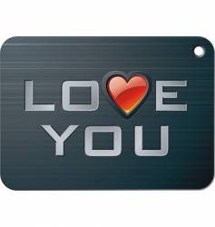 metal tablet for valentines day vector image vector image