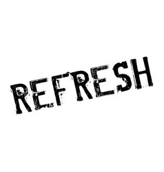 refresh rubber stamp vector image