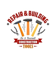 Repair building construction tools sign vector