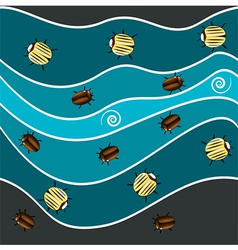 Sea bugs vector image