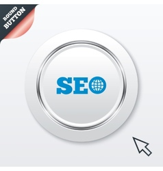 SEO sign icon Search Engine Optimization symbol vector image