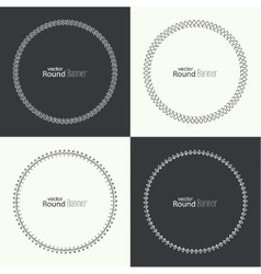 Set of round banners vector image