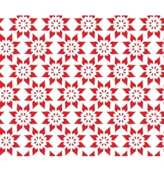 Simple Abstract Seamless Pattern of Flower vector image